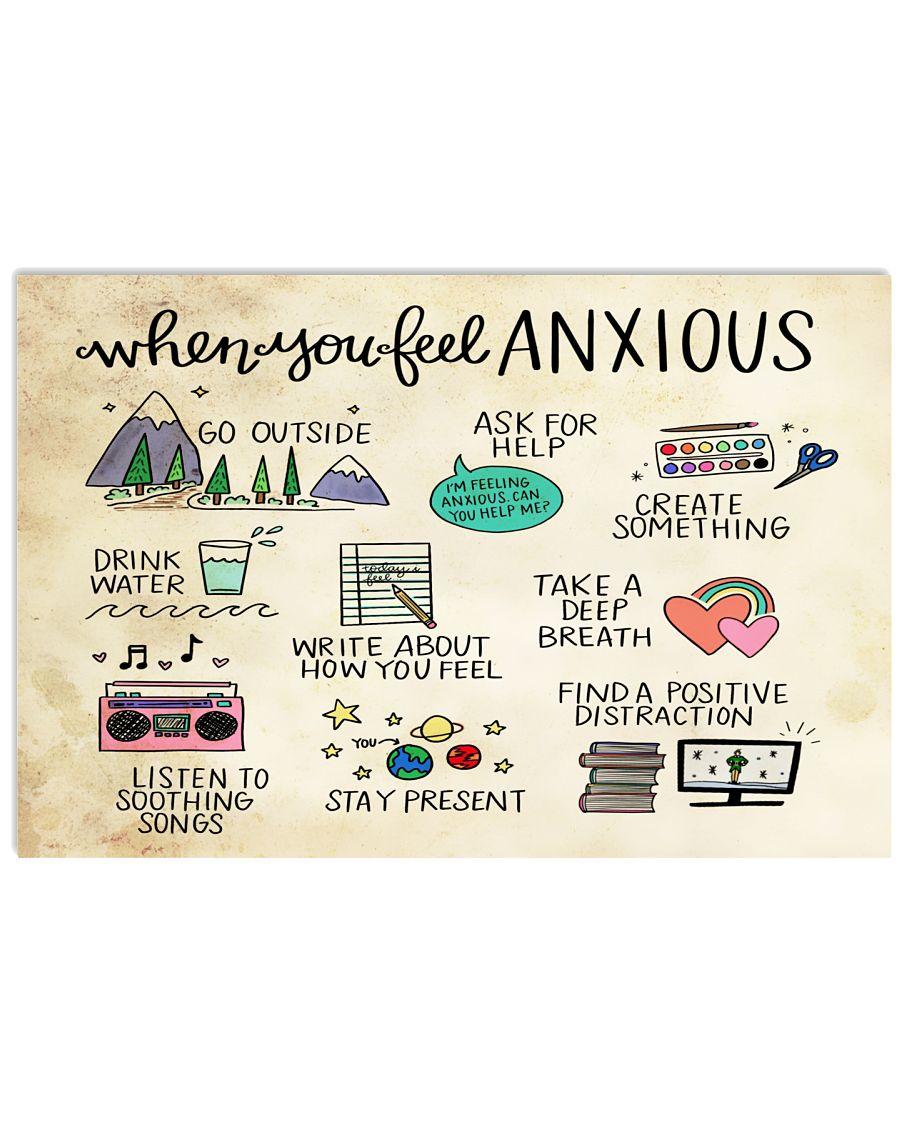 Teacher When You Feel Anxious Poster
