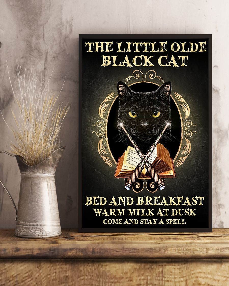 The Little Old Black Cat Spell Poster
