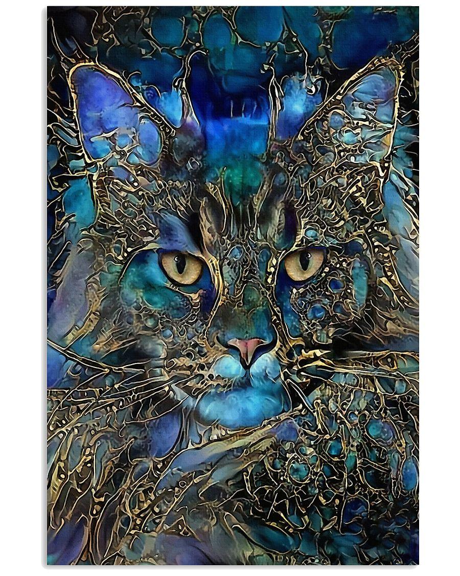 Trippy Cat Art Poster