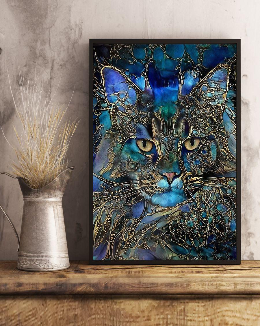 Trippy Cat Art Posterx