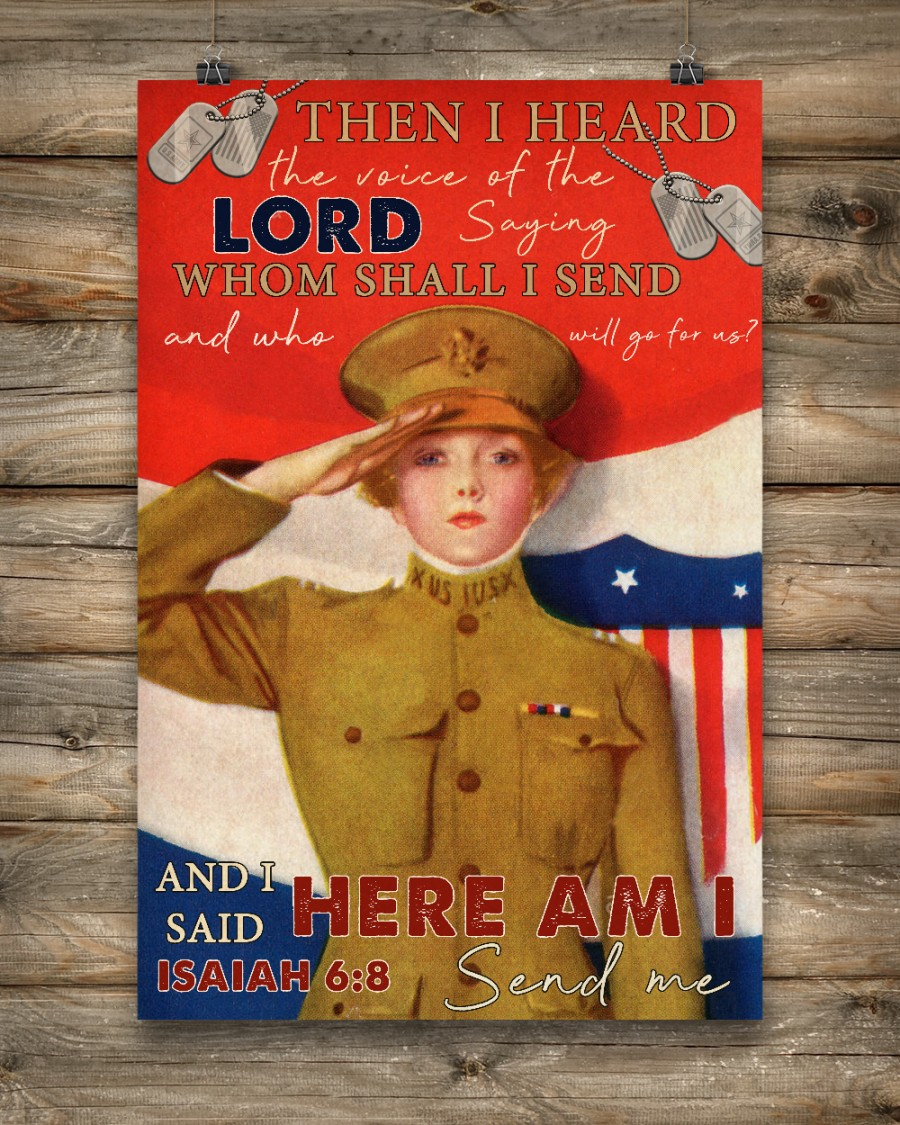 US Female Soldier Then I Heard The Voice Of The Lord Saying Whom Shall I Send Posterc