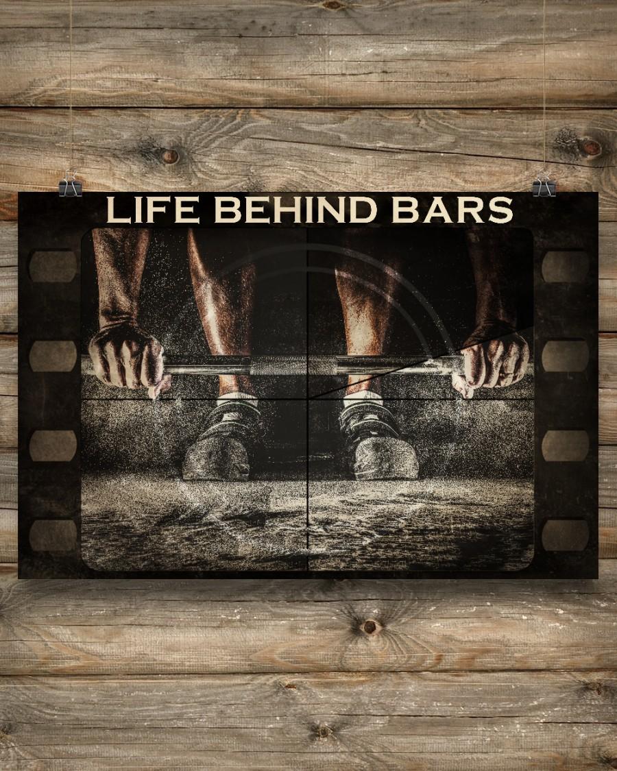 Weightlifting Life Behind Bars Posterc