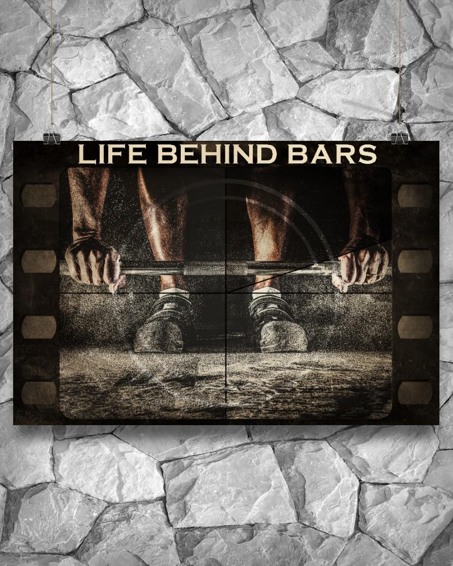 Weightlifting Life Behind Bars Posterx