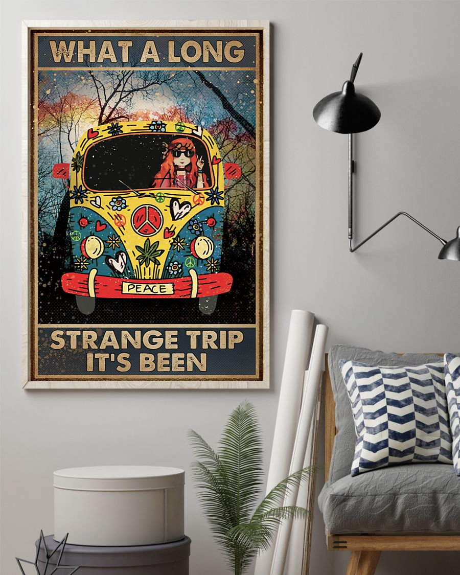 What A Long Strange Trip It's Been Hippie Poster 1