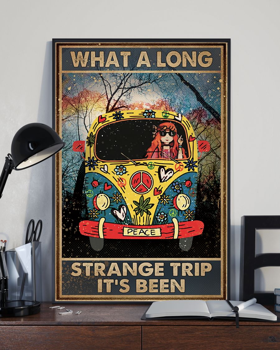 What A Long Strange Trip It's Been Hippie Poster 2
