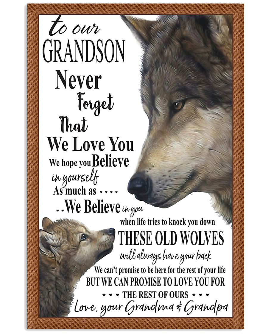 Wolf To our Grandson Poster