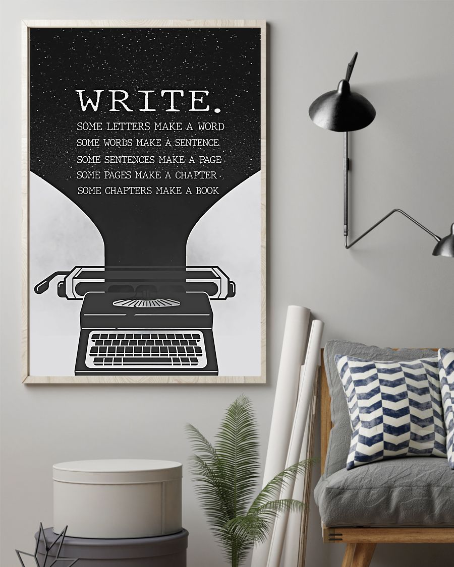 Write Some Letters Make A World Posterz