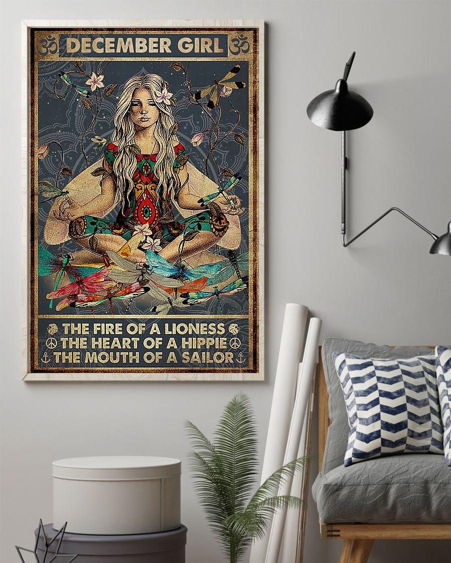 Gorgeous Yoga December Girl Poster