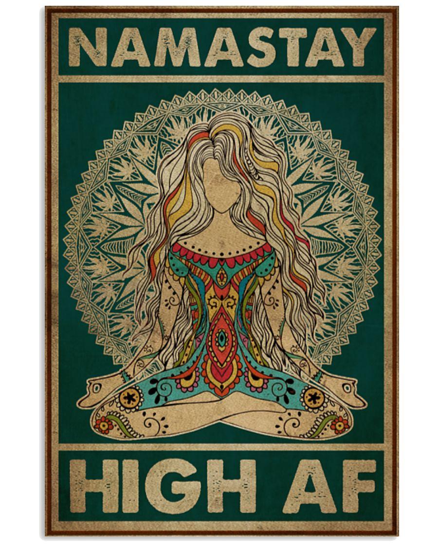 Yoga Namastay High AF Poster