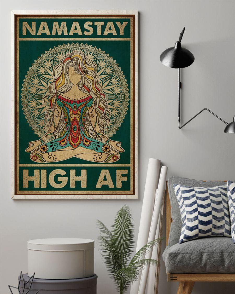 Yoga Namastay High AF Posterz