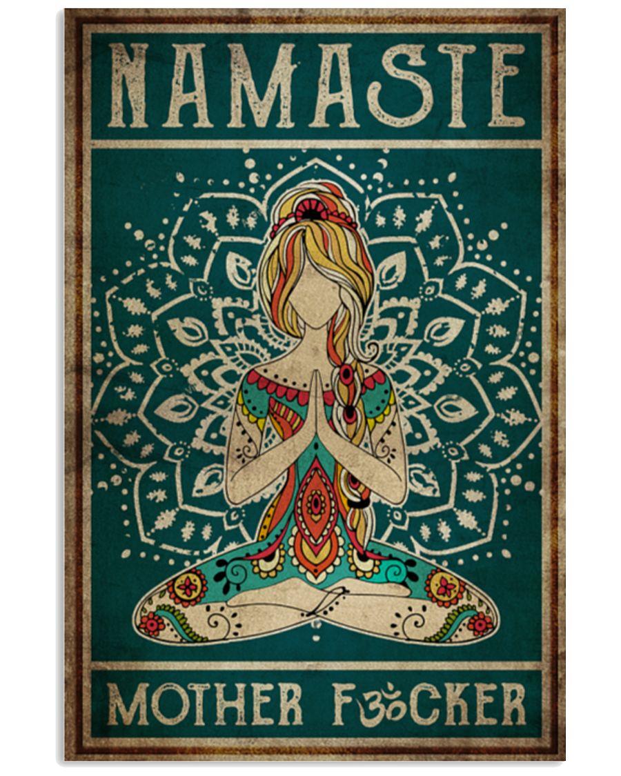 Yoga Namaste Mother Fucker Art Poster