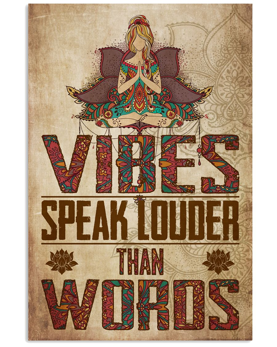 Yoga Vibes Speak Louder Than Words Poster