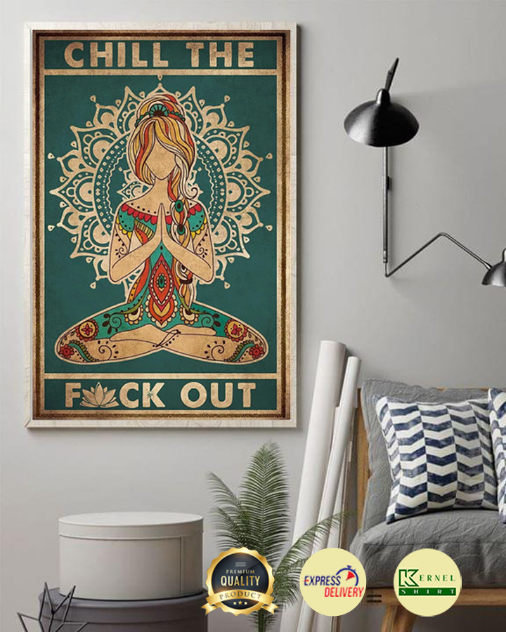 Yoga chill the fuck out poster 2
