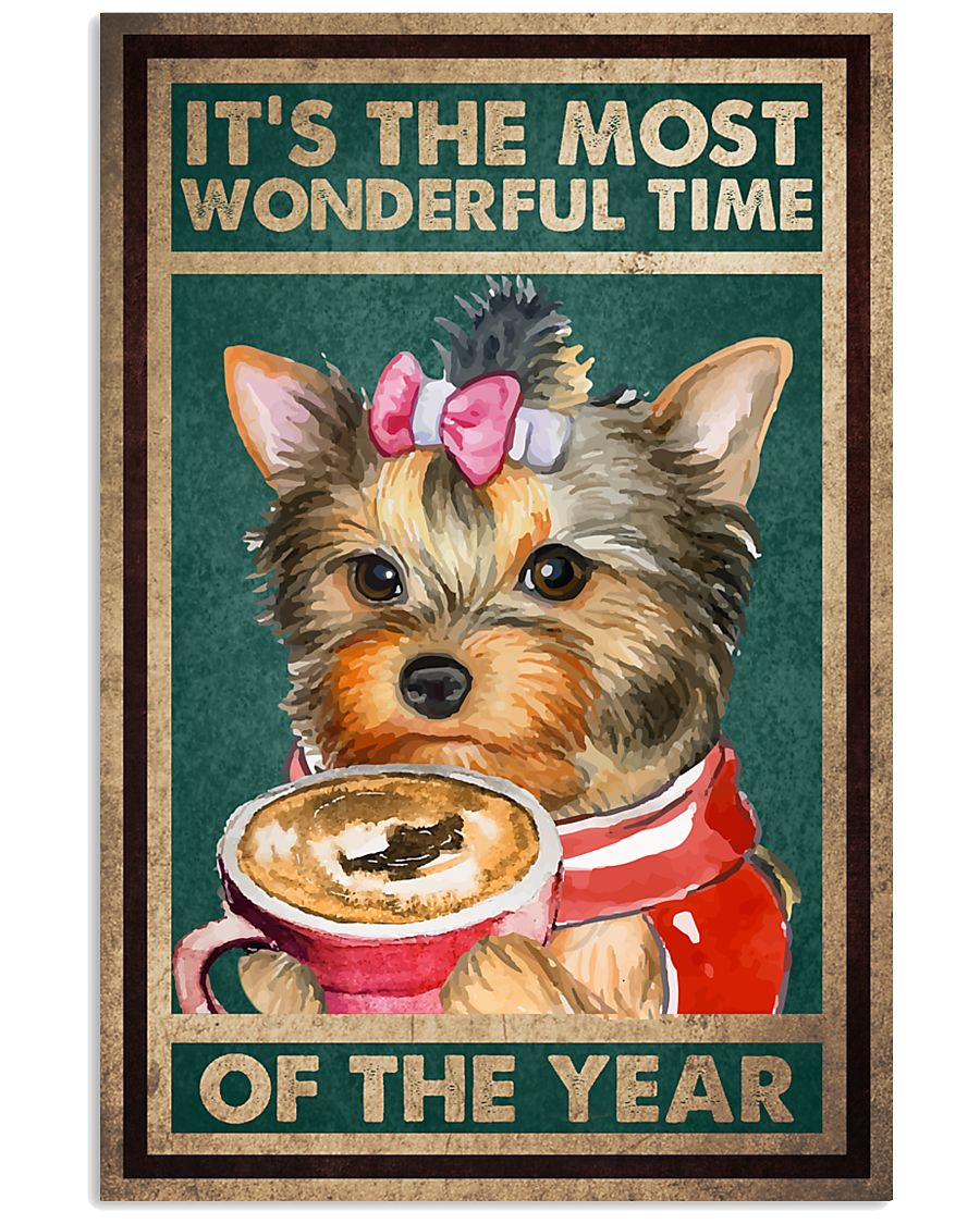 Yorkshire Terrier The Most Wonderful time of the year Poster