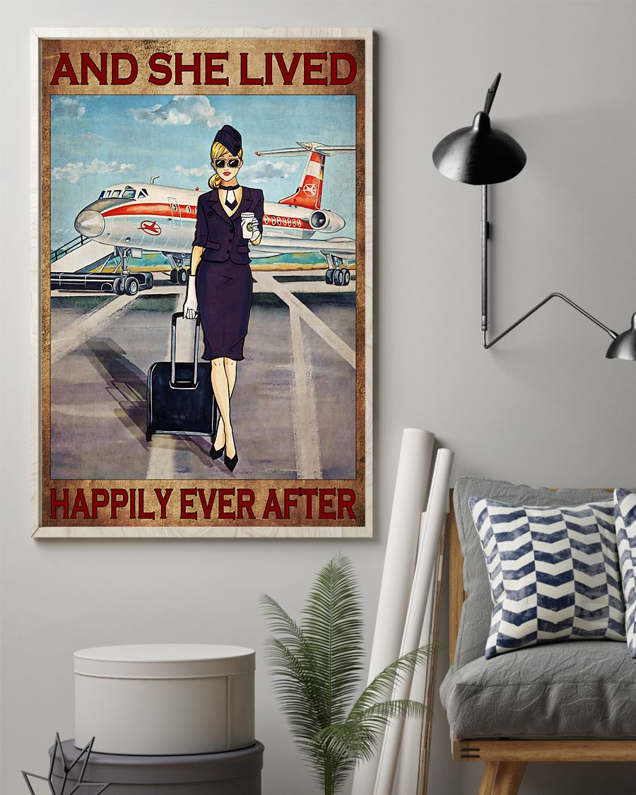 flight attendant she lived and happily ever after poster