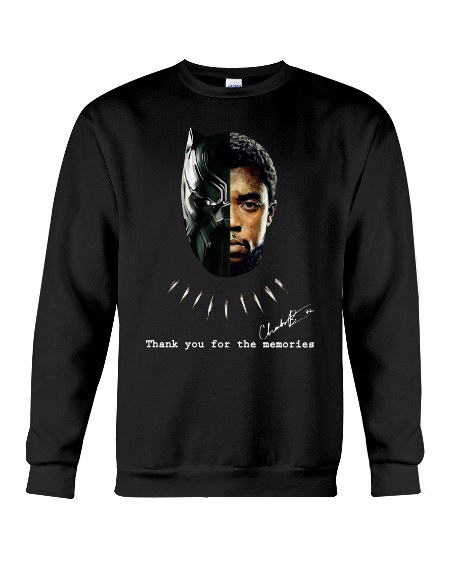 Black Panther Chadwick Boseman Thank you for the memories Long Sleeve