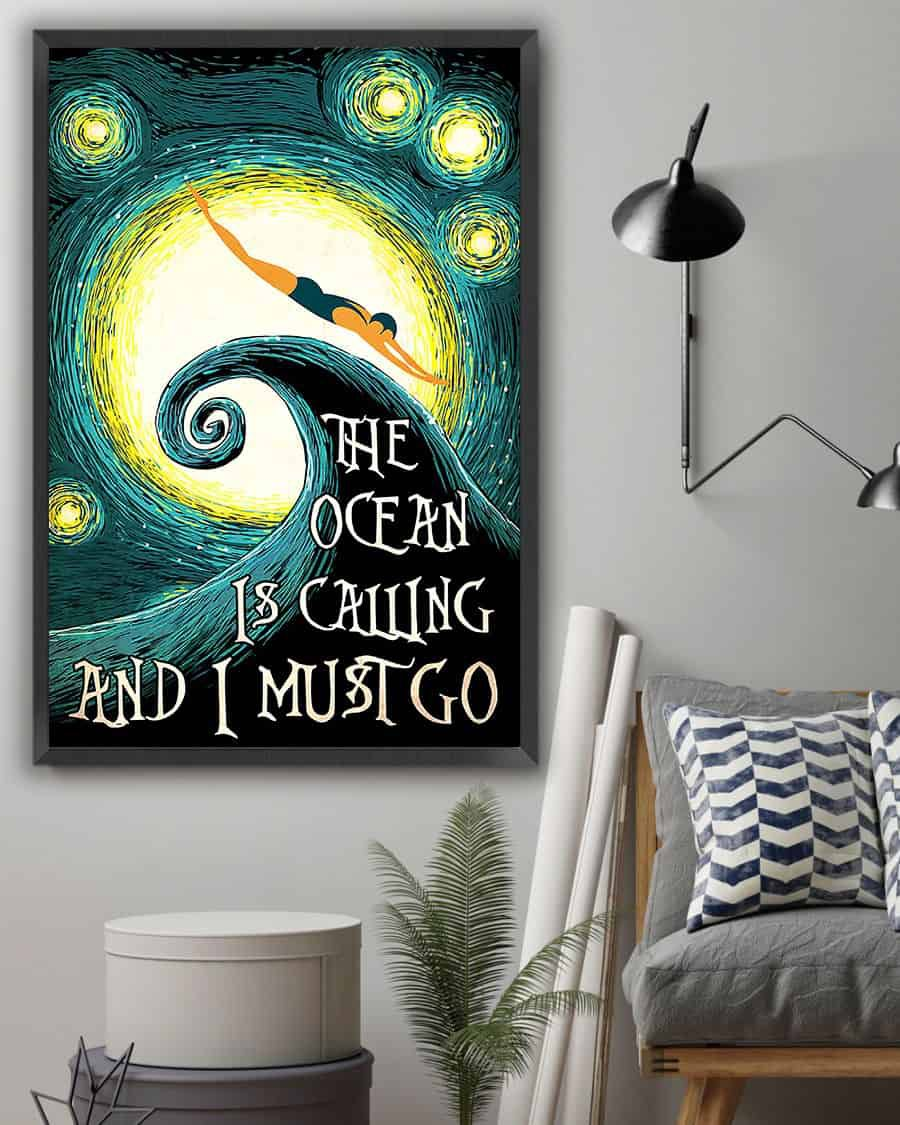 Swimming Starry Art The ocean is calling and i must go poster