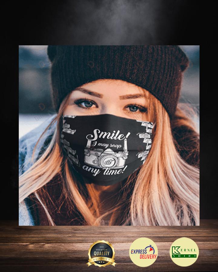 smile i may snap at any time face mask