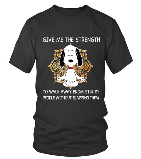 snoopy yoga give me strength shirt