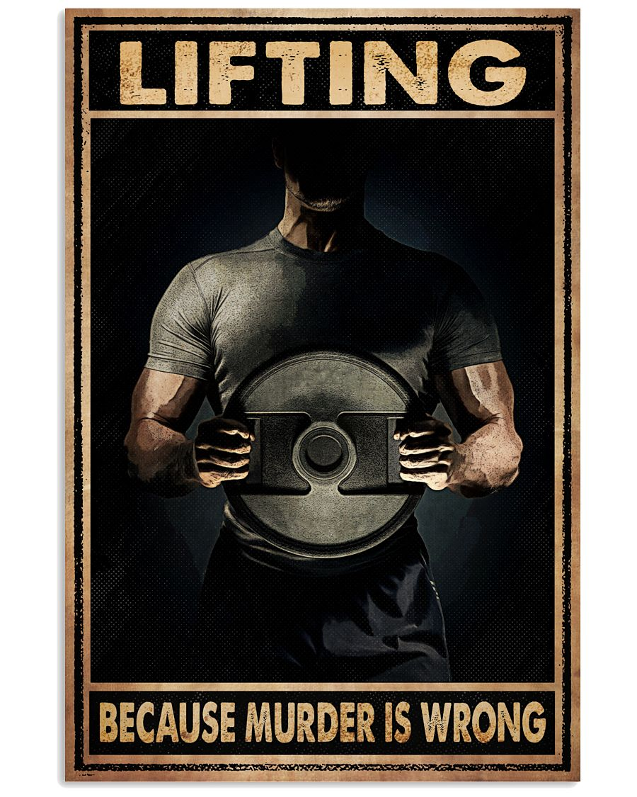Fantastic Lifting Because Murder Is Wrong Poster