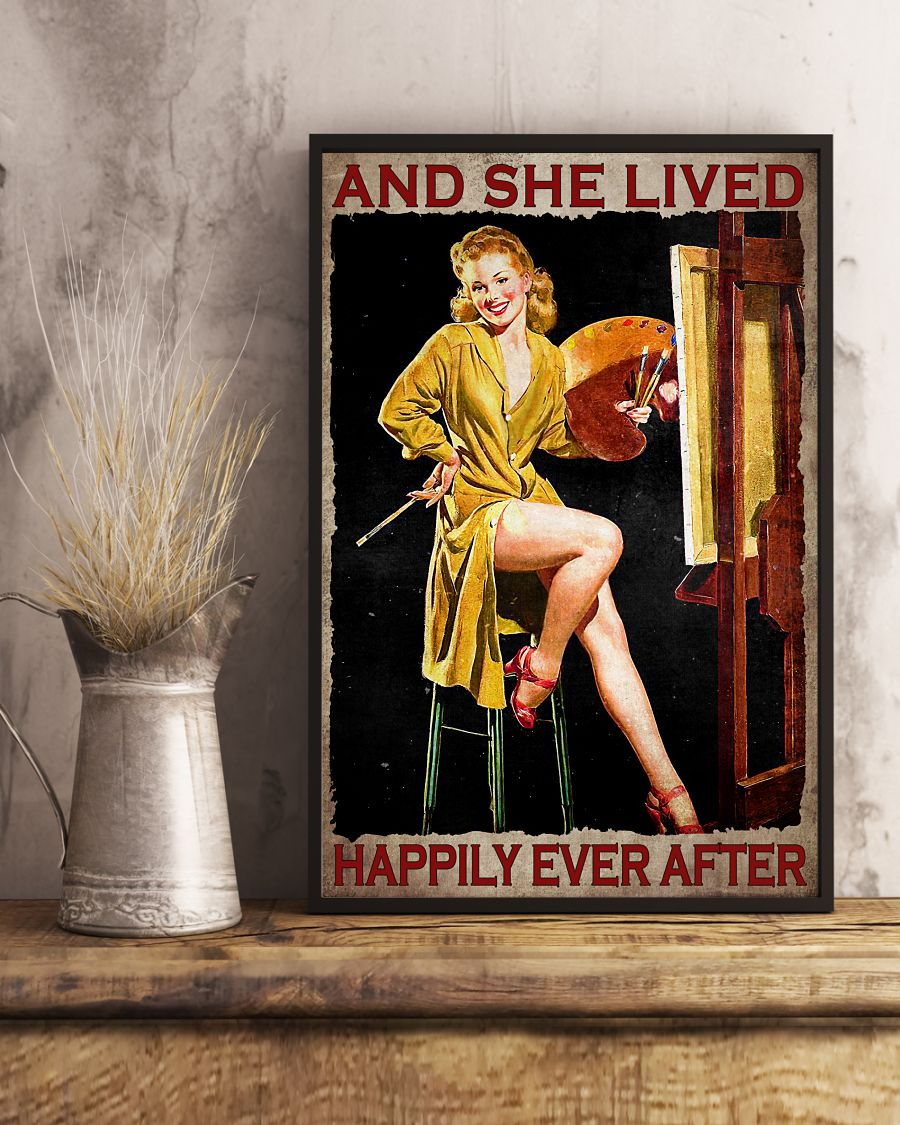 Great And She Lived Happily Ever After Painter Poster