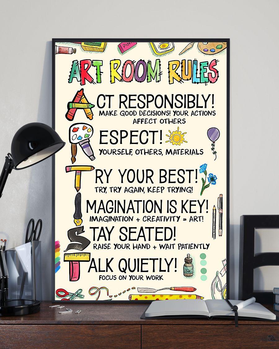 US Shop Art Room Rules Artist Poster