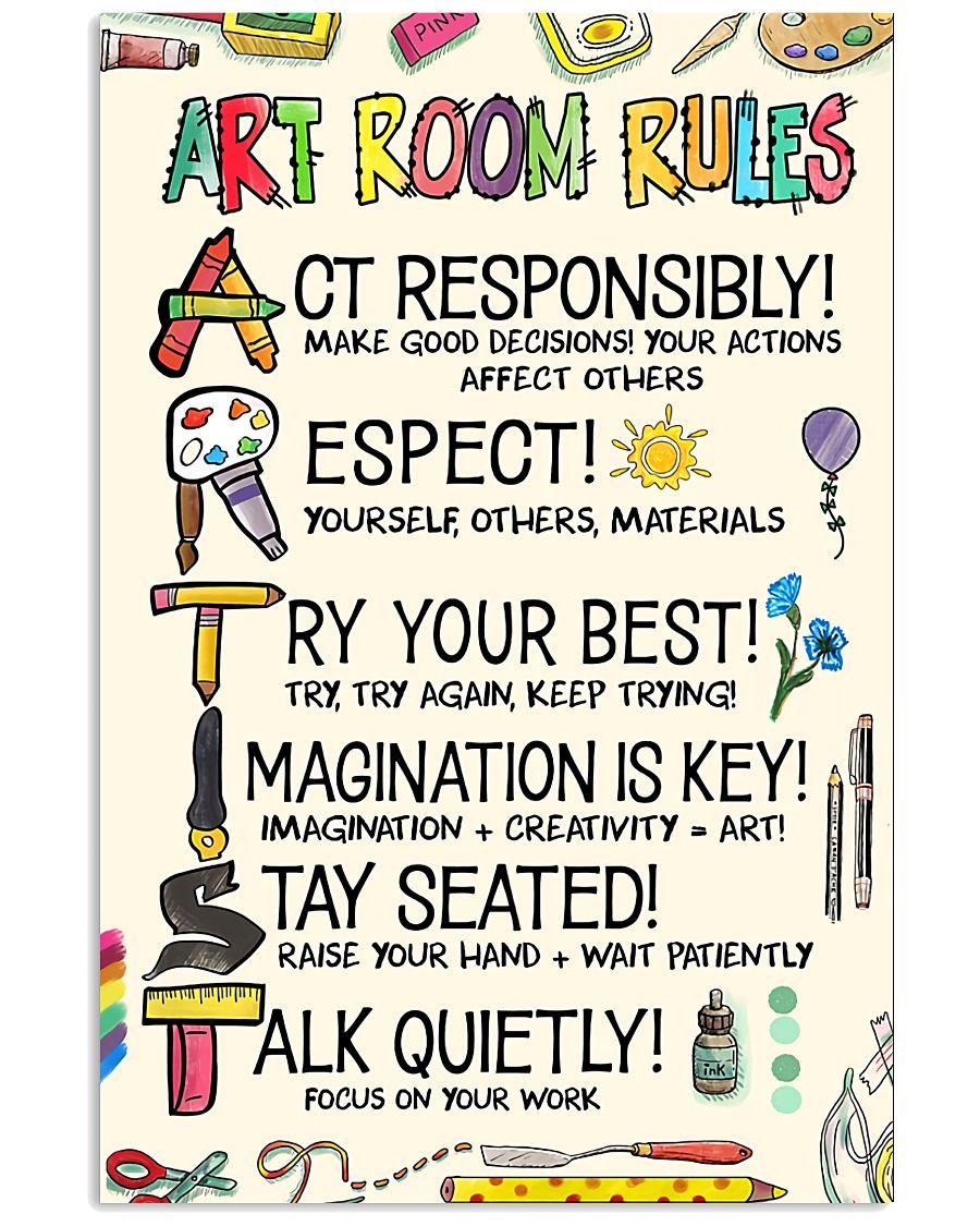 Esty Art Room Rules Artist Poster