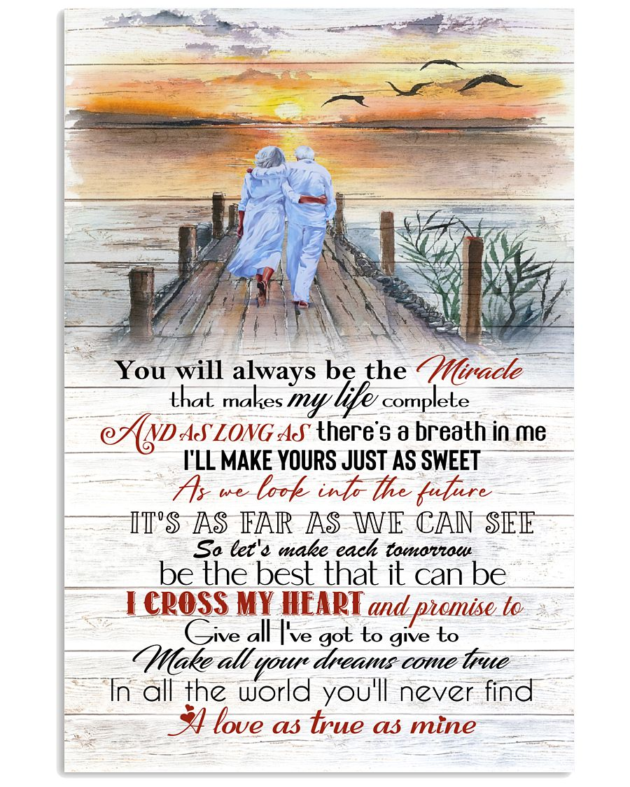 Great I Cross My Heart And Promise To Give All I've Got To Give Poster