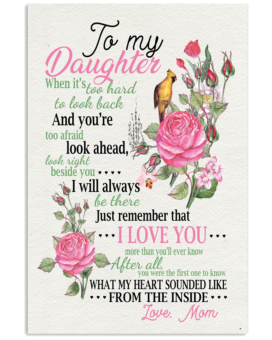 Top Rated To My Daughter What My Heart Sounded From The Inside Love Mom Poster