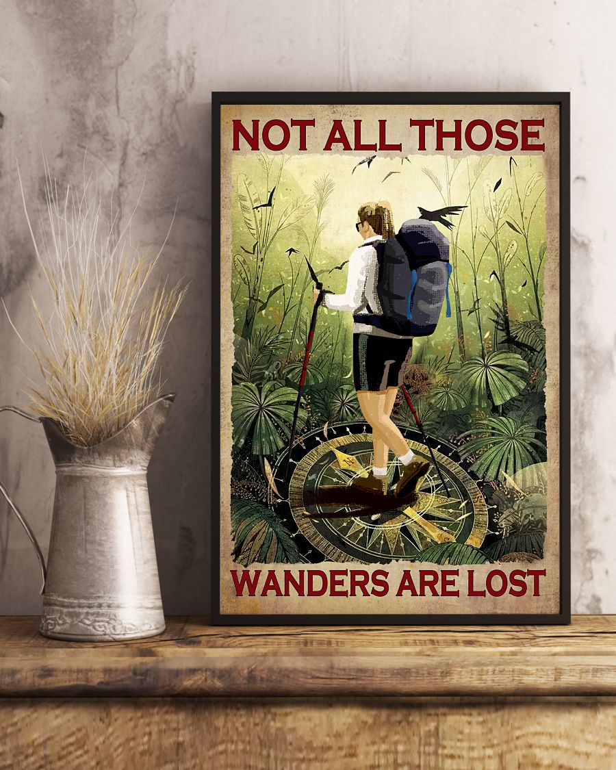 Us Store Not At All Those Who Wander Are Lost Hiking Girl Poster