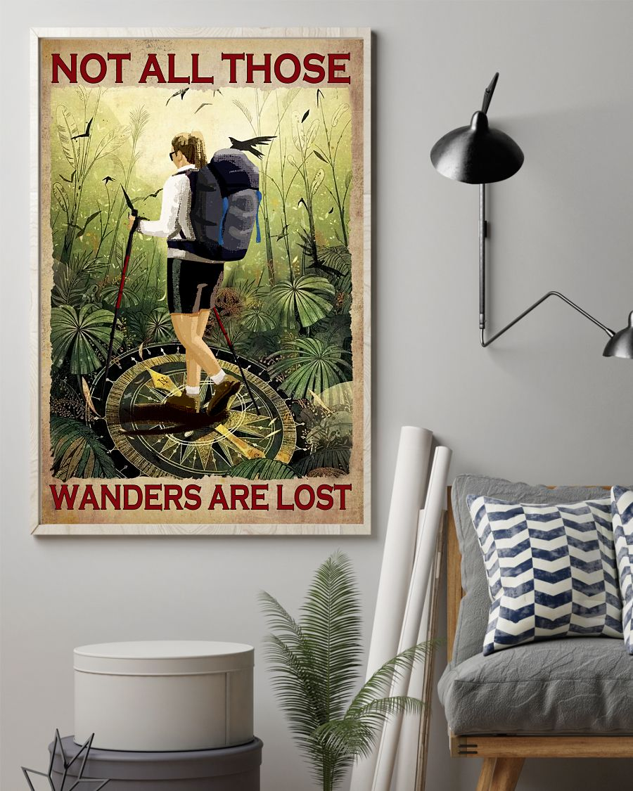 Rating Not At All Those Who Wander Are Lost Hiking Girl Poster