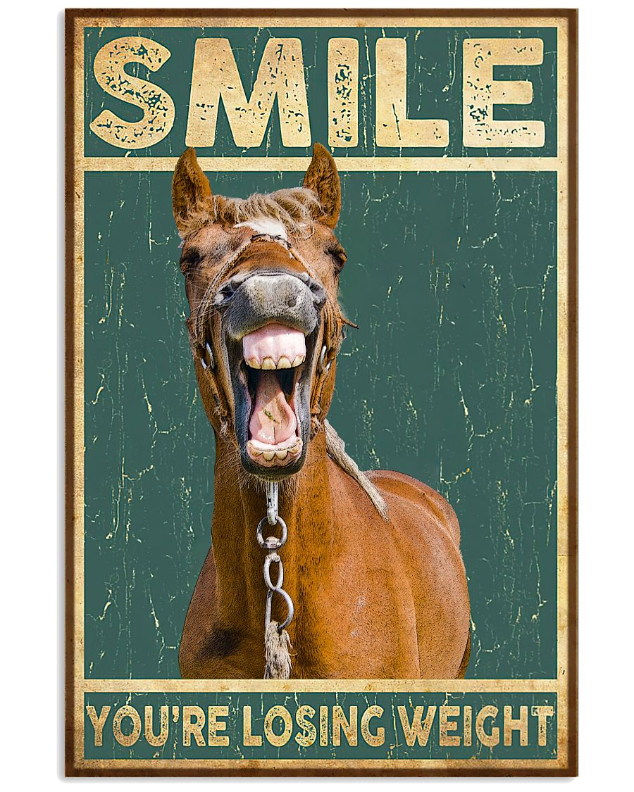 Smile You're Losing Weight Funny Horse Poster