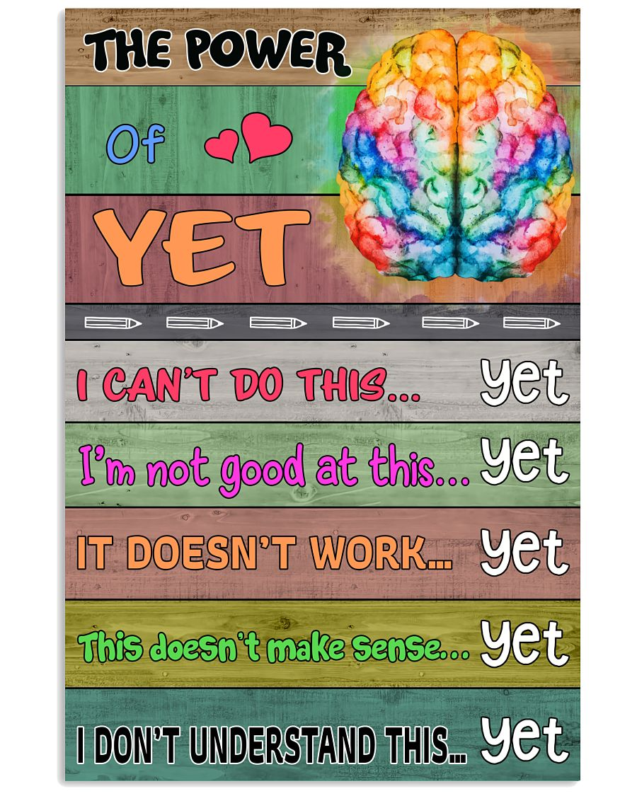 Top Selling The Power Of Yet Brain Poster
