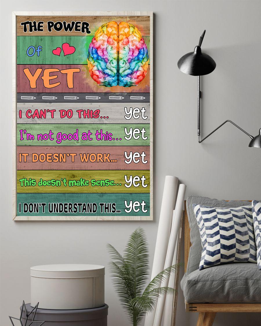 Vibrant The Power Of Yet Brain Poster