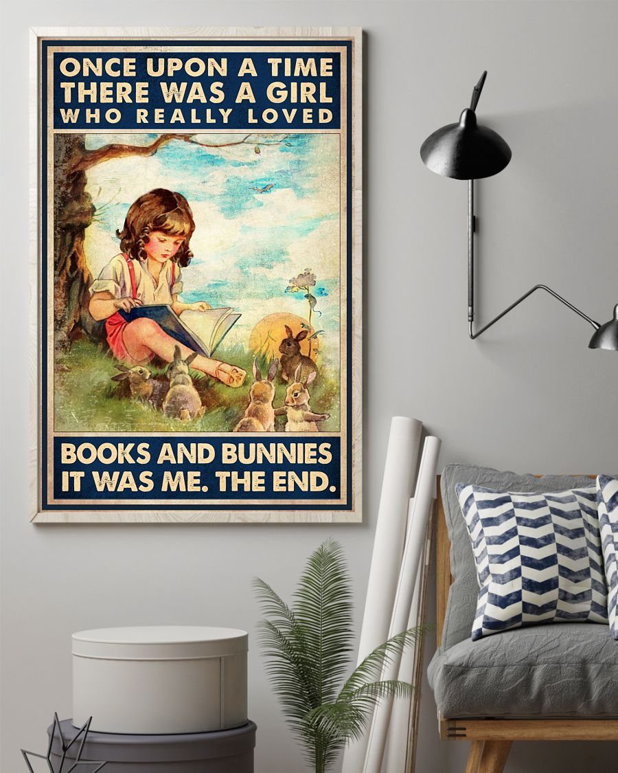 Rating There Was A Girl Who Really Loves Books And Bunnies Poster