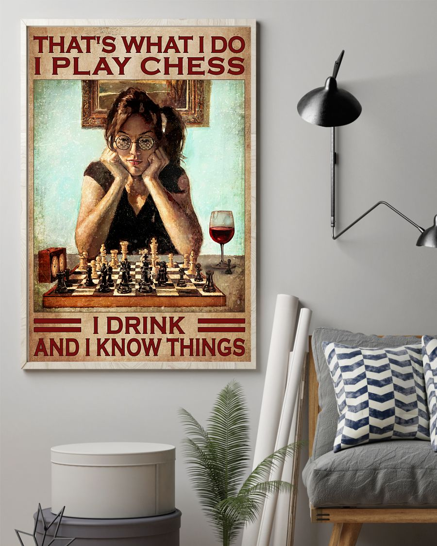 Gorgeous I Play Chest I Drink And I Know Things Poster