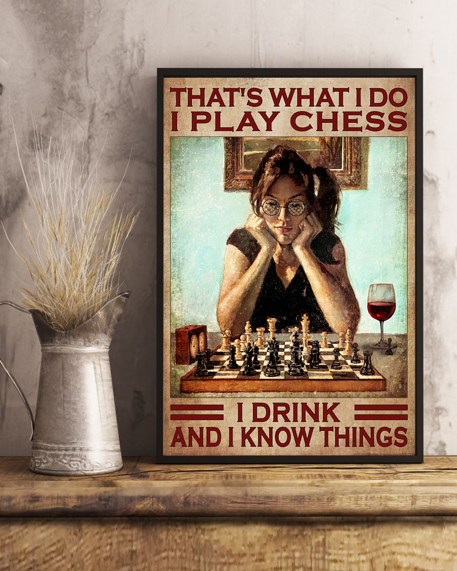 Nice I Play Chest I Drink And I Know Things Poster