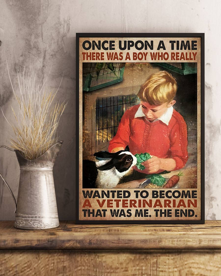 Esty Once Upon A Time There Was A Boy Who Really Want To Become A Veterinarian Poster