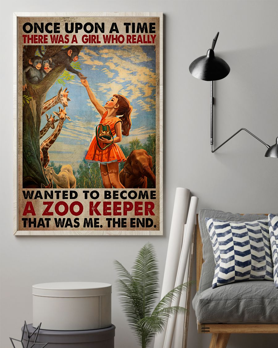 Adorable There Was A Girl Who Really Want To Become A Zookeeper Poster