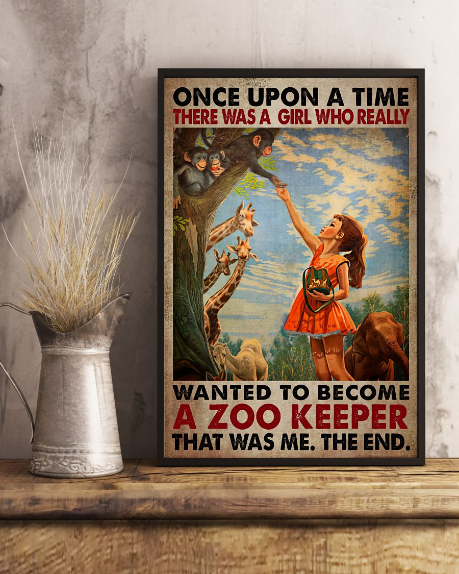 Amazon There Was A Girl Who Really Want To Become A Zookeeper Poster