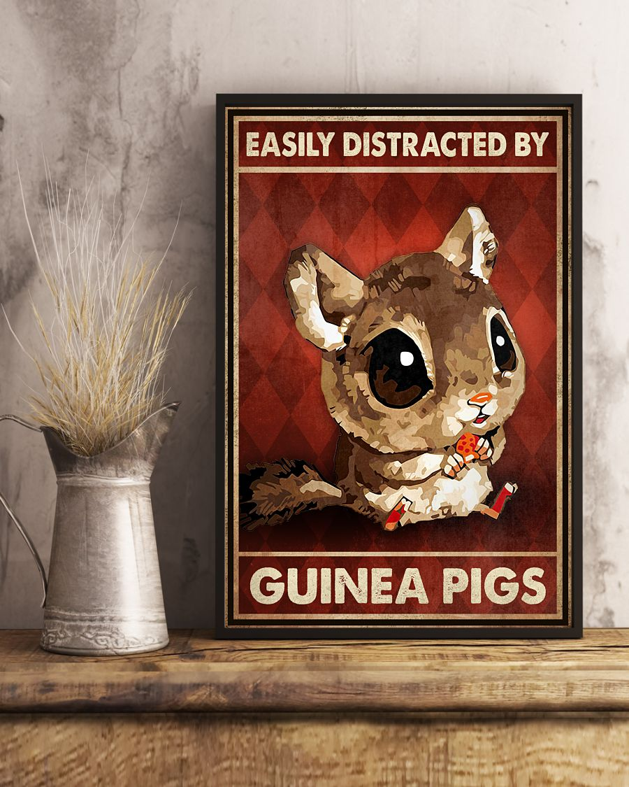 Where To Buy Easily Distracted By Guinea Pigs Poster