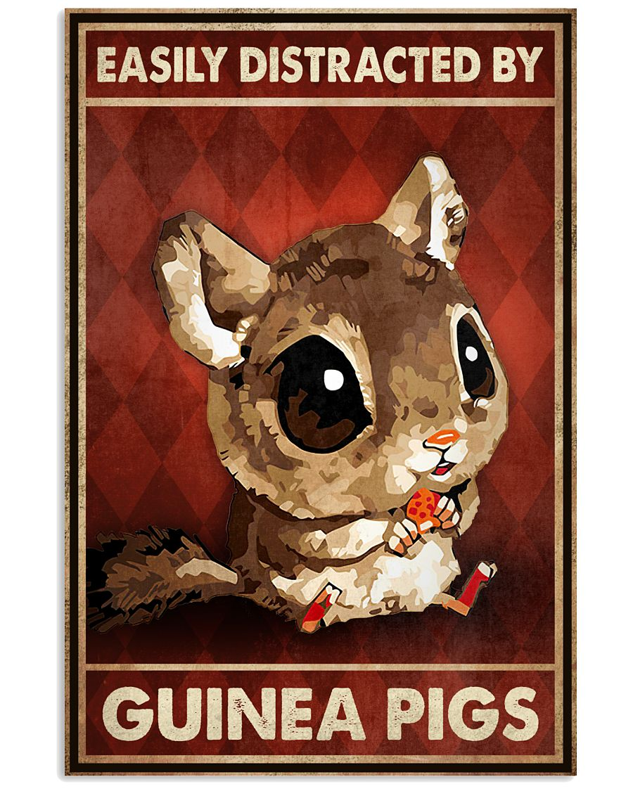 Easily Distracted By Guinea Pigs Poster