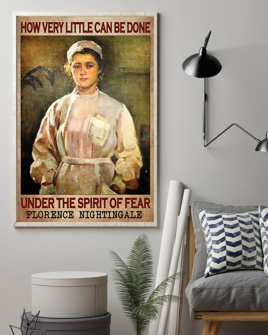 Best Shop How Very Little Can Be Done Under The Spirit Of Fear Poster