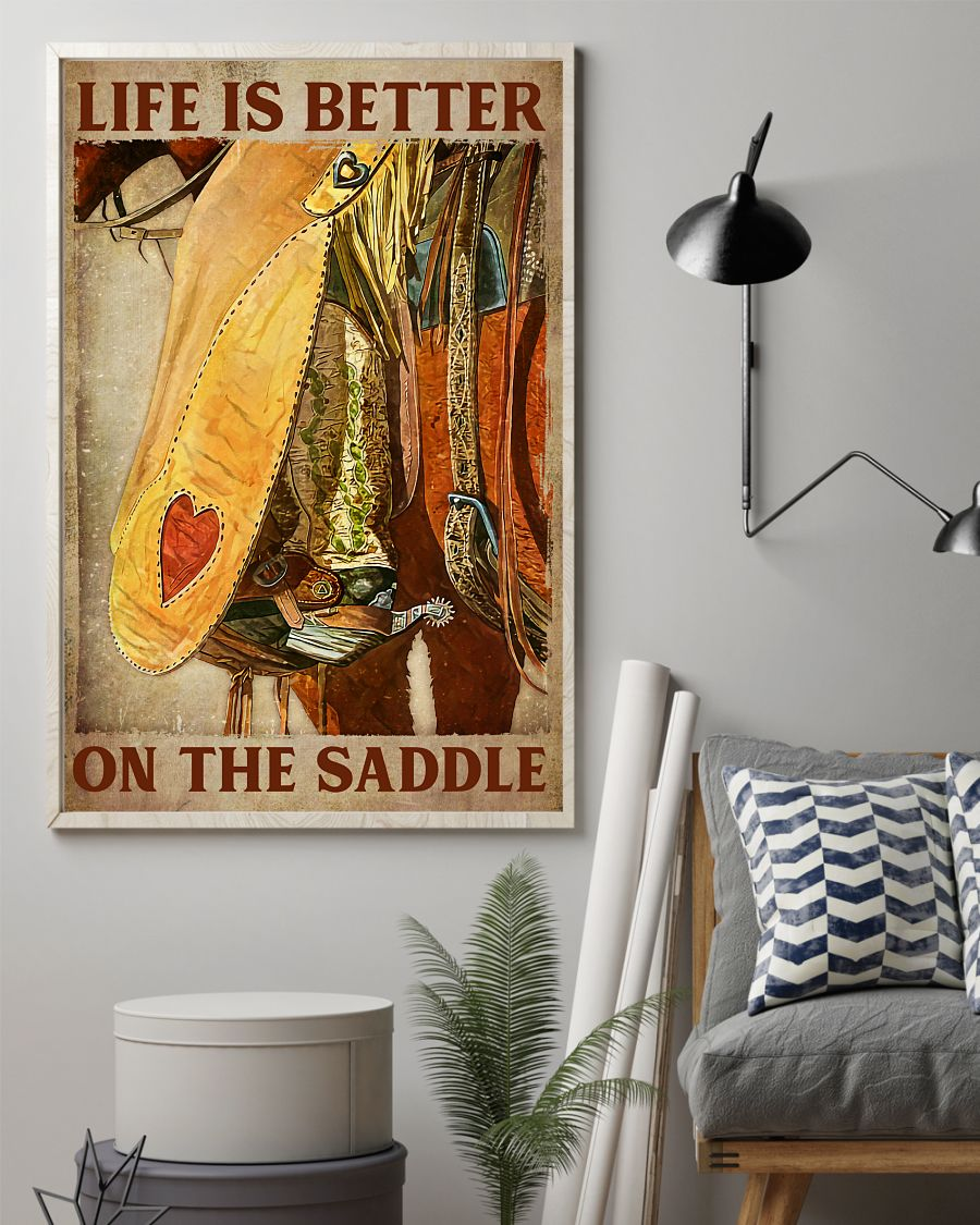 Hot Life Is Better On The Saddle Poster