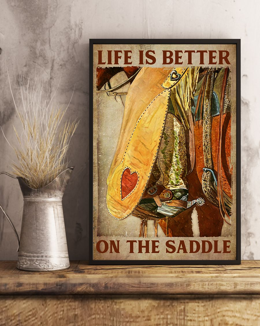 Buy In US Life Is Better On The Saddle Poster